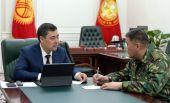 Президент Садыр Жапаров обсудил с председателем ГКНБ Камчыбеком Ташиевым приграничные вопросы