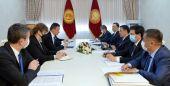 Садыр Жапаров принял министра иностранных дел и торговли Венгрии Петера Сийярто