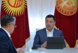 Садыр Жапаров принял министра образования и науки Болотбека Купешева