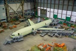 Авиалайнер Ил-96-400М передан в цех окончательной сборки