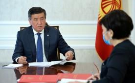 Президент Кыргызстана встретился с представителем судебной системы