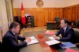 И.о. президента Кыргызстана встретился с главой МИД страны