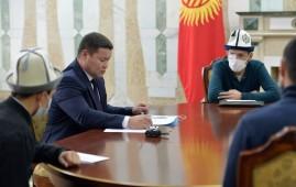И.о. президента Кыргызстана встретился с пострадавшими во время октябрьских событий
